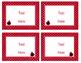 Ladybugs Decor: Editable Small Labels