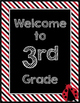 Ladybugs Decor: Stripes Welcome Poster
