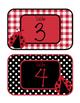 Ladybugs Decor: Table Numbers