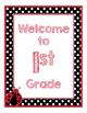 Ladybugs Decor: White Dots Welcome Poster