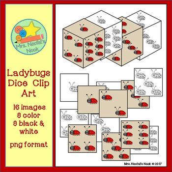 Dice Clip Art - Ladybugs