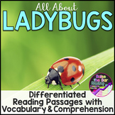 Ladybugs Differentiated Reading Passages with Vocabulary &
