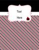 Ladybugs Decor: Editable Binder Covers & Spines