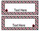 Ladybugs Decor: Editable Nameplates