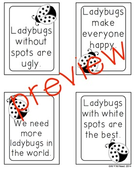 Ladybugs: Facts & Opinions