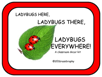 Ladybugs Here, Ladybugs There, Ladybugs Everywhere!