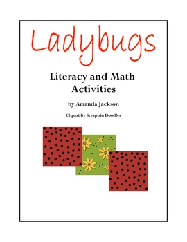 Ladybugs Literacy and Math Activities