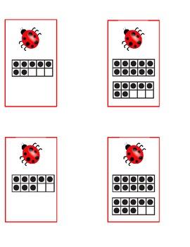 Ladybugs Math and Literacy Centers