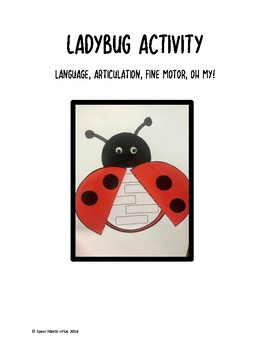 Ladybugs - Multi-use activity: language, articulation, fine motor and MORE!