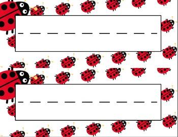 Ladybugs Desk Name Tag Plates Set