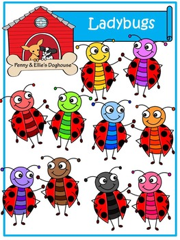 Ladybugs *Penny & Ellie's Doghouse Clipart*
