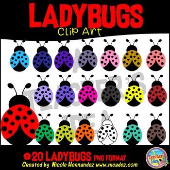 Ladybugs Clip Art for Teachers