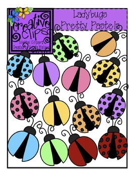 Ladybugs Pretty Pastels {Creative Clips Digital Clipart}