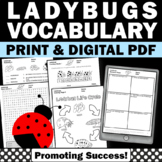 Ladybug Activities, Spring Science Worksheets