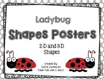 Ladybugs Shapes Posters