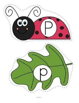 Ladybugs Alphabet Matching Upper and Lower Case