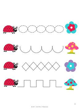 Ladybugs - Tracing Skills Practice