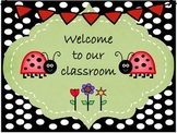 Ladybugs Welcome Poster