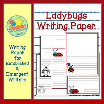 Writing Paper Templates - Ladybugs Theme