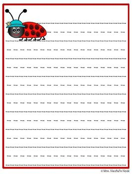 Writing Paper Ladybugs