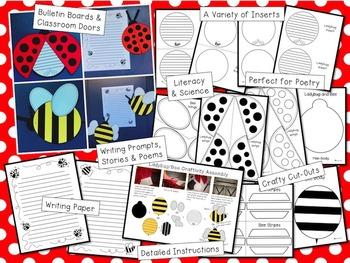 Spring Crafts - Ladybug Craft and Bee Craft