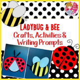 Spring Crafts - Ladybug Craft and Bee Craft