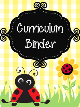 Ladybugs and Daisies Teacher Binder Covers