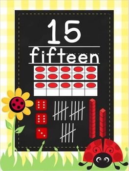 Ladybugs and Daisies Number Posters to 20