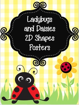 Ladybugs and Daisies Shapes Posters