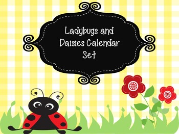 Ladybugs and Daisies Teacher Calendar Set