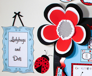 Ladybugs and Dots 3-Dimensional Large Flower