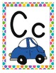 Alphabet Cards - Bright Colors and Polka Dots