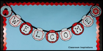 Ladybugs and Dots Banner