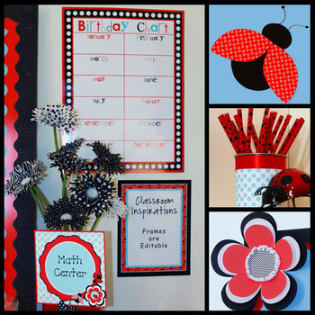 Ladybugs And Dots Birthday Chart By Classroom Inspirations