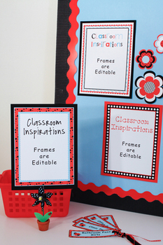 Ladybugs and Dots Bordered Posters