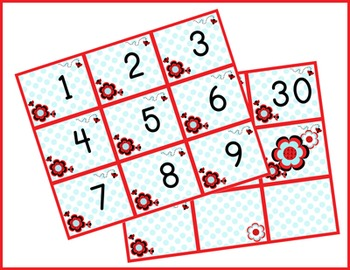 Ladybugs and Dots Calendar Numbers