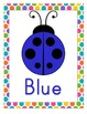 Color Posters - Bright Colors and Polka Dots - Ladybugs