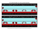 Ladybugs and Dots Cursive Nameplates