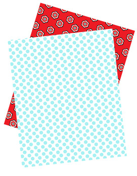 Ladybugs and Dots Decorative Papers