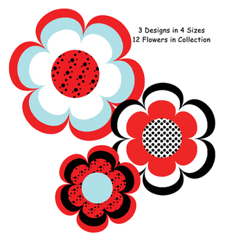 Ladybugs and Dots Flower Accents