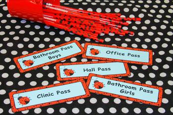 Ladybugs and Dots Hallway Pass