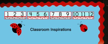 Number Line - Coordinates with Ladybugs and Dots Classroom Theme