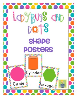 Shape Posters - Bright Colors and Polka Dots