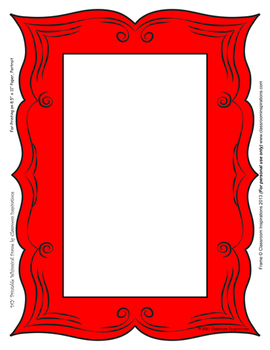 Ladybugs and Dots Whimsical Picture Frames