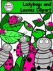 Ladybugs and Leaves Clipart