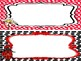 Ladybugs themed Name Plate Labels. Classroom Bulletin Board Set.