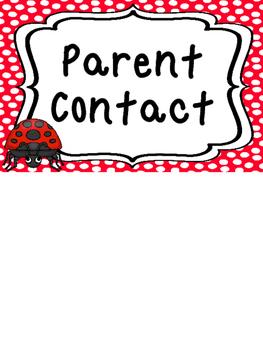 Ladybugs themed Printable Behavior Clip Chart. Classroom Behavior Manageme