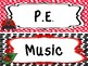 Ladybugs themed Printable Class Subjects Labels. Classroom Bulletin Board Set.