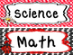 Ladybugs themed Printable Classroom Center Signs. Class Accessories.