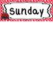 Ladybugs themed Printable Days of the Week Classroom Bulletin Board Set. Class A